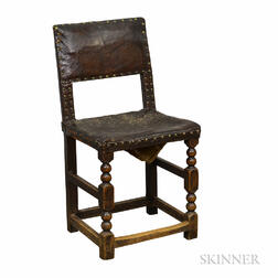 Baroque Turned Oak Side Chair