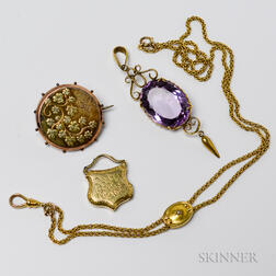 Group of Antique Gold Jewelry