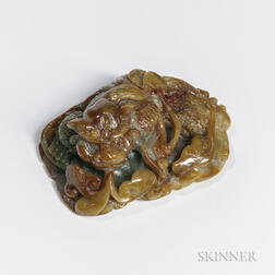 Jadeite Carving of a Toad Dragon