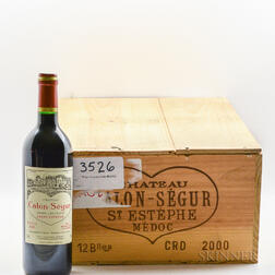 Chateau Calon Segur 2000, 11 bottles