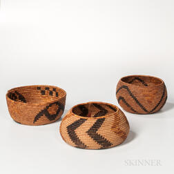 Three California Baskets