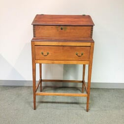 Country Pine Schoolmaster's Desk