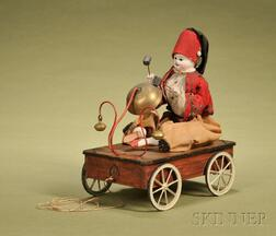 Boy Ringing Bell Pull-Toy