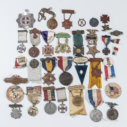 Group of Grand Army of the Republic and Other Civil War Veteran's Medals