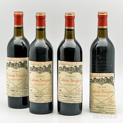 Chateau Calon Segur 1982, 4 bottles