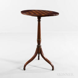 Oval Tilt-top Mahogany Game Table
