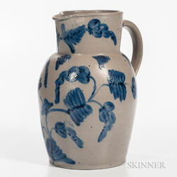 Cobalt-decorated Two-gallon Stoneware Jug