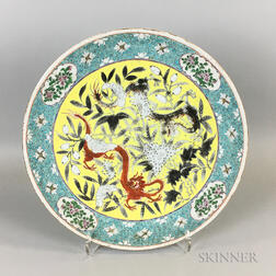 Chinese Glazed Porcelain Charger