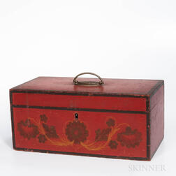 Red-painted Document Box