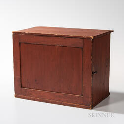 Small Shaker Red-painted Cupboard