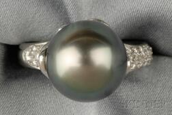 Platinum, Tahitian Pearl, and Diamond Ring, Tiffany & Co.