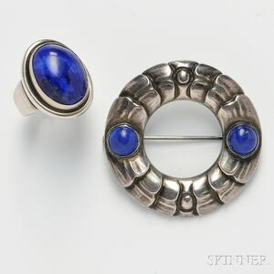 Georg Jensen Brooch and Ring