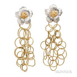 "18kt Gold ""Olympia"" Earclips, Buccellati"