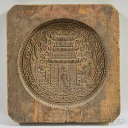 Wood Moon Cake Mold