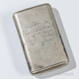 Silver-plated Tobacco Box Identified to Charles A. Chittenden, 1st Connecticut Heavy Artillery Regiment