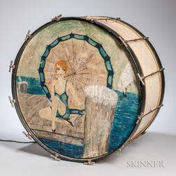 Paint-decorated Bass Drum