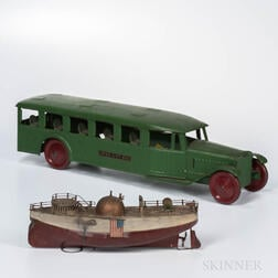 Two Early 20th Century Painted Tin Toys
