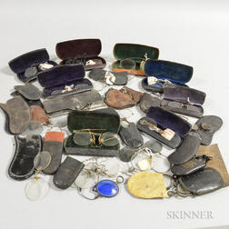 Collection of 19th to 20th Century Pince-nez Spectacles