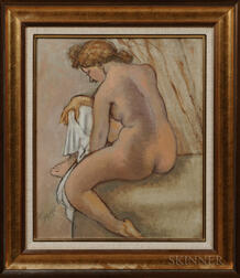 Emil Ganso (American, 1895-1941)      After the Bath/Seated Nude with Towel