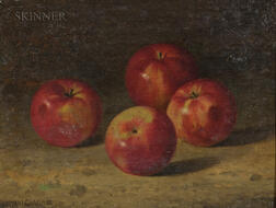 Bryant Chapin (American, 1859-1927)      Still Life with Four Apples