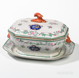 Armorial Export Porcelain Tureen and Undertray