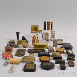Forty-six Assorted Snuff Boxes and Match Safes