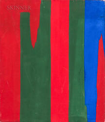 Calvert Coggeshall (American, 1907-1990)    Abstract in Red, Green, and Blue