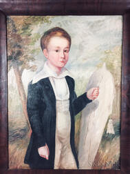 American School, 19th/20th Century       Portrait of a Boy with a Kite