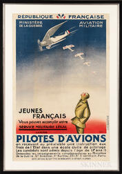 """Pilotes D'Avions"" French Air Force Recruitment Poster"
