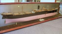 Half-Hull Boardroom Model of the 360-foot British Cargo Ship Queen Cristina