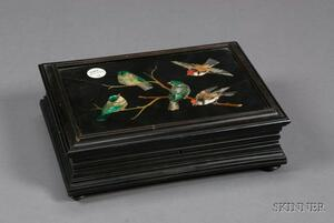 Pietra Dura Mounted Box and Cover