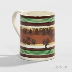 Small Mocha-decorated Pearlware Mug