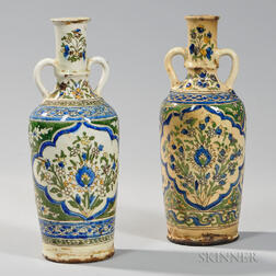 Pair of Glazed Pottery Vases