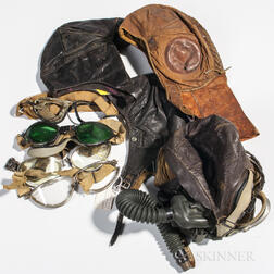 Group of Flight Helmets and Gear