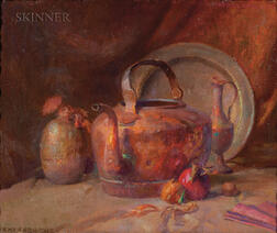 Henry Hensche (American, 1899-1992)      Still Life with Copper Kettle