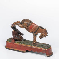 """Cast Iron """"Always did Spise a Mule"""" Mechanical Bank"""