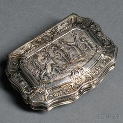 Continental Silver and Parcel-gilt Box