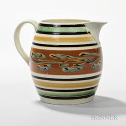 Marbled Slip-decorated Pitcher