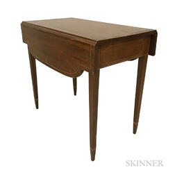 Federal Inlaid Mahogany One-drawer Pembroke Table