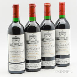 Chateau Leoville Las Cases 1986, 4 bottles
