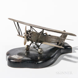 Metal Single-propeller Biplane Model