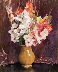 Laura Coombs Hills (American, 1859-1952)      Gladiolas