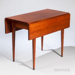Tiger Maple Drop-leaf Table