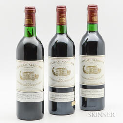 Chateau Margaux 1983, 3 bottles