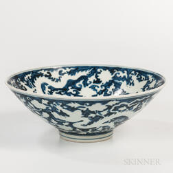 Large Blue and White Bowl