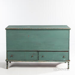 Painted Pine Chest over Two Drawers
