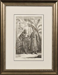 Engraving Titled A Negro Pedlar and His Wife