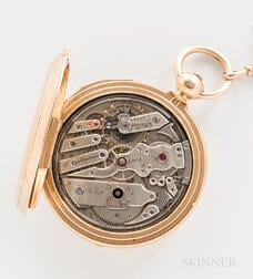 A. Hunguenin & Sons 18kt Gold Demi-hunter Repeating Watch