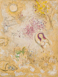Marc Chagall (Russian/French, 1887-1985)      Chloé