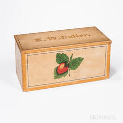 Paint- and Strawberry-decorated Box